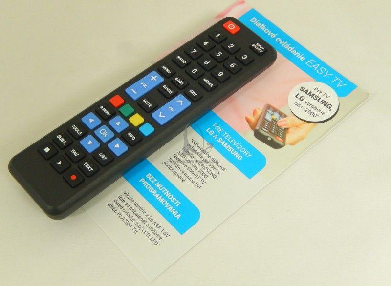58dacad2c Diaľkový ovládač pre Samsung a LG - Easy model - Diaľkové ovládače ...