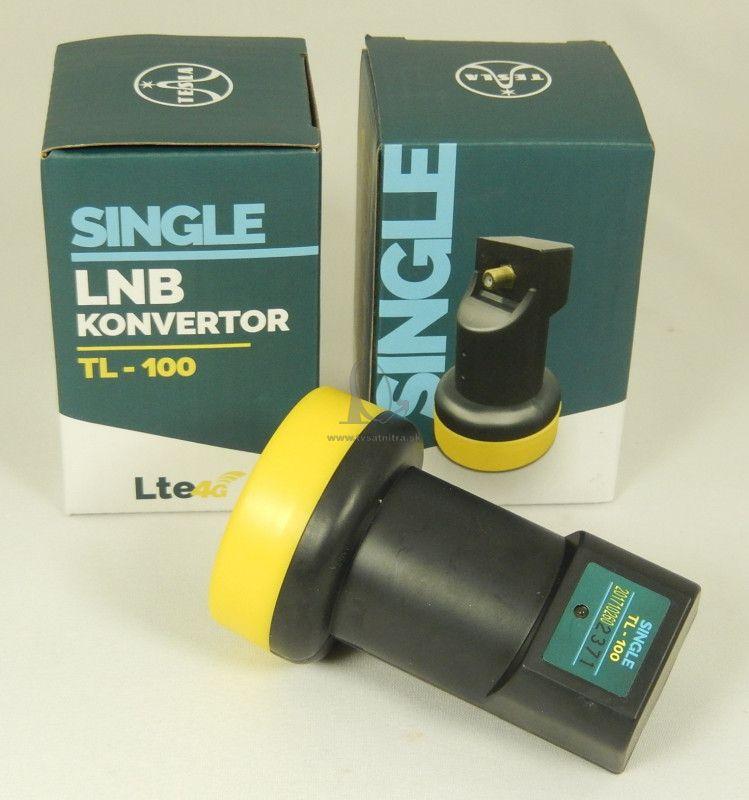 LNB konvertor Tesla Singel TL-100 s LTE filtrom - Single